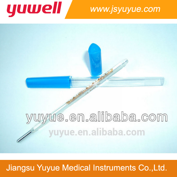 Clinical Thermometers Oral Use white yellow back thermometer type