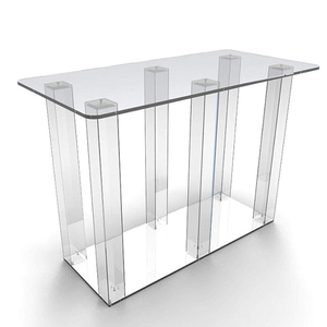Office/home/hotel furniture display Transparent/clear Acrylic/plexiglass round glass top coffee table
