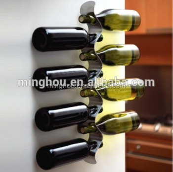 Unique Nest Metal Wine Bottle Holderboat Shape Wine Rack Stainless