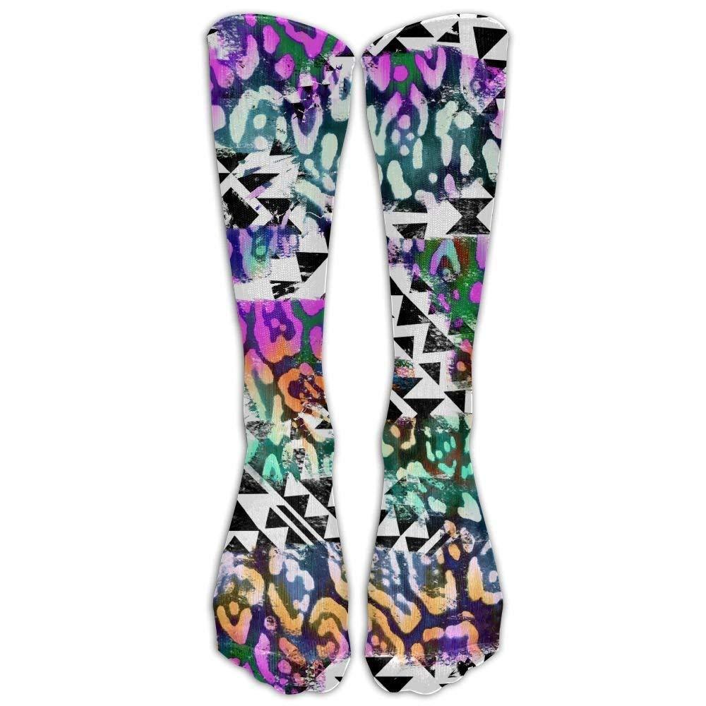 81317c9b15e Get Quotations · Zebra Print Girls Athletic Crew Socks Novelty Boot Socks  Long Socks Exercise High Tube Socks