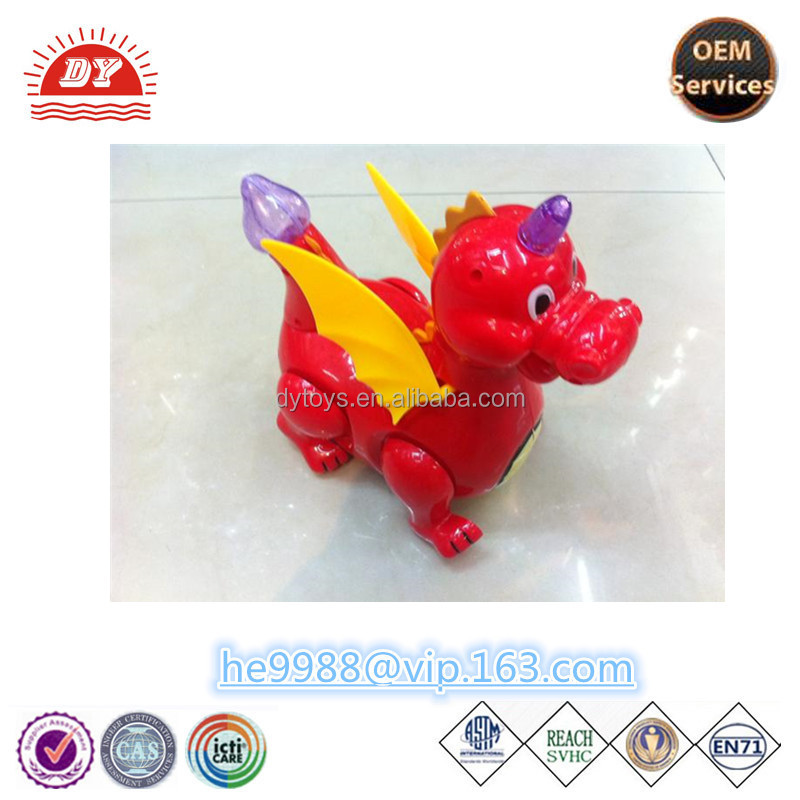 custom cheaper small plastic walking red dinosaur toys