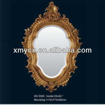Vintage oval baroque mirror buy vintage baroque mirror for Baroque resin mirror