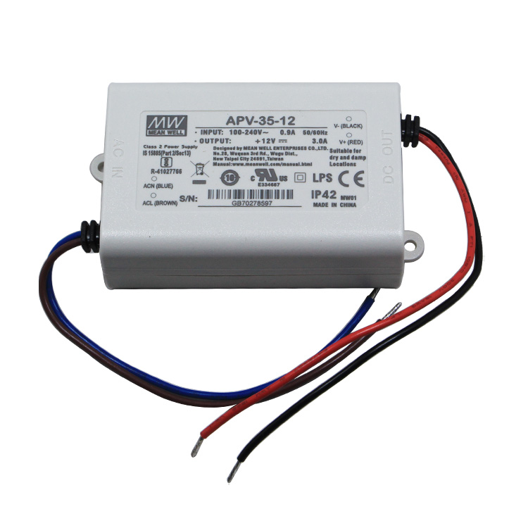 Constant Voltage Mean Well APV-35-12 AC-DC Single Output LED Driver