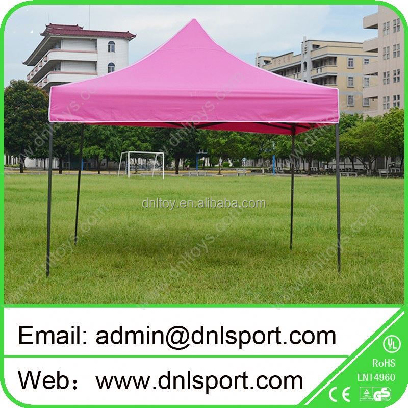large blue temporary work tent