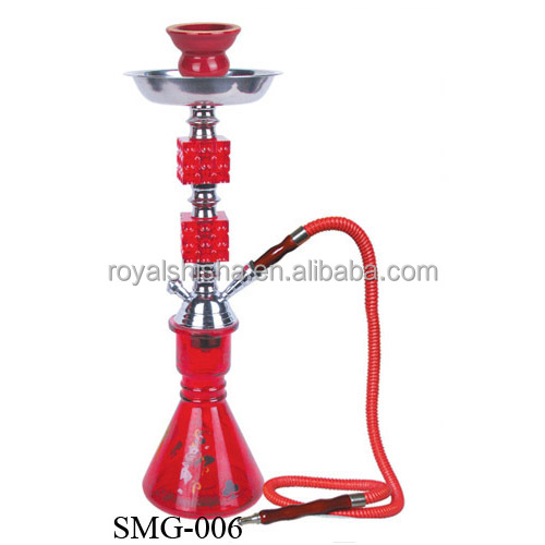 New Style Suitcase Metal Shisha Glass Bottle Narguile Acrylic Dschinni Tabaco Hookah