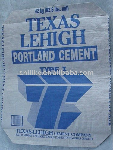 kraft paper laimated pp cement valve bag