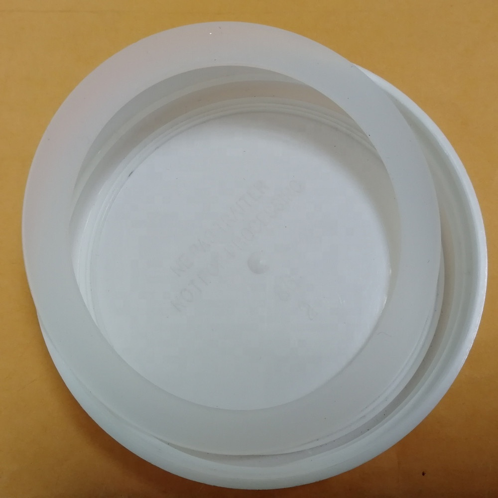 Reusable BPA-free food grade transparent silicone jar seals  for wide mouth mason jar lids