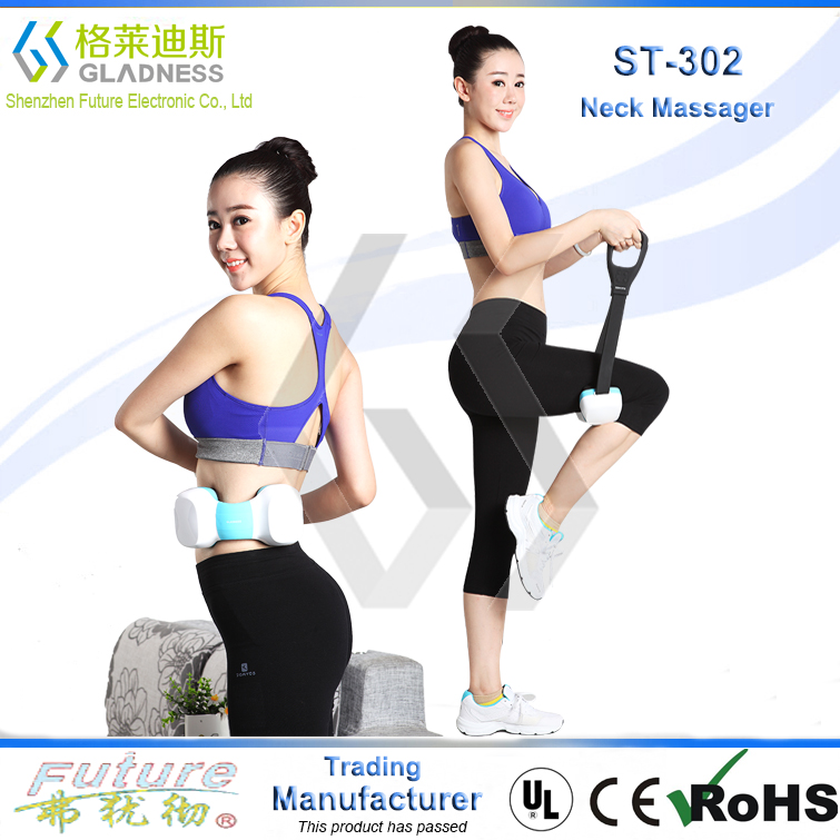 Gladness Professional Manufacture Cheap Hand Made Neck And Back Kneading Massage Wireless Massage Relieve Neck Pain