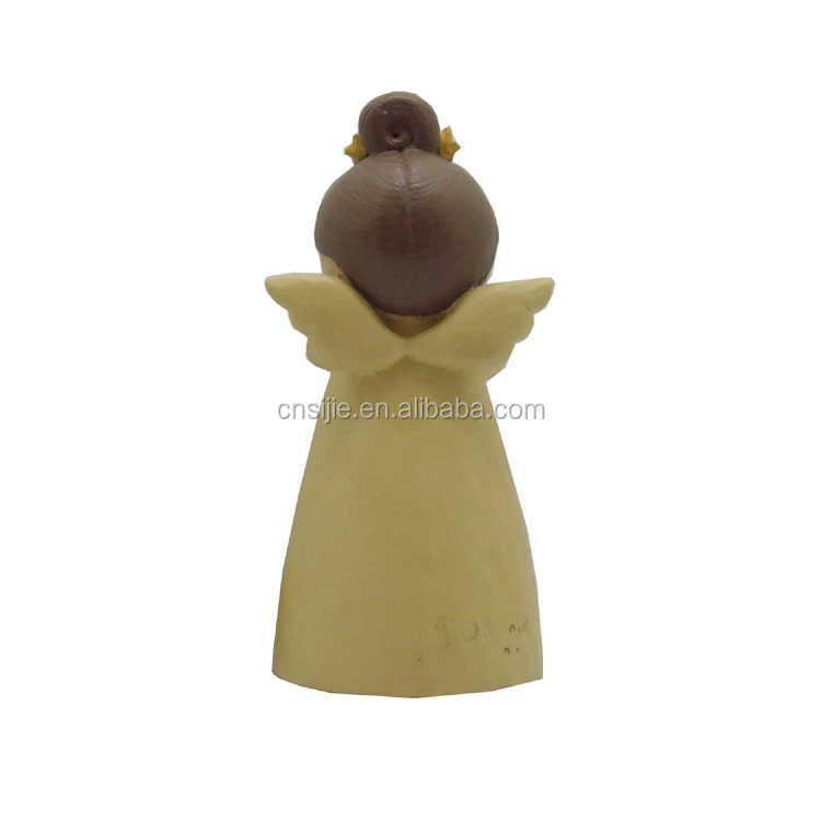 Christmas blessing angel decoration resin angel figurine