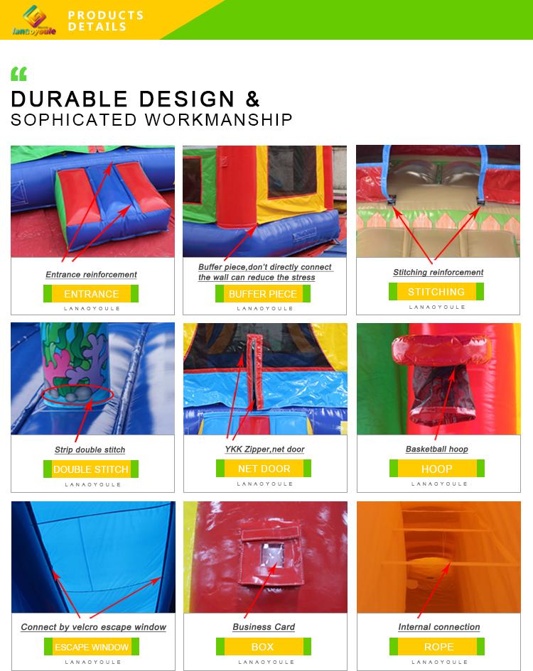 Indoor usado móvel 4 em 1 inflável bungee cabo trampolim parque passeio crianças comercial único bungee jumping trampolim para venda