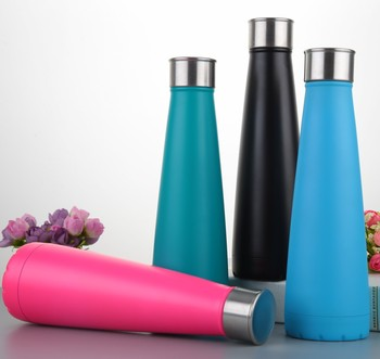 Newly design 500ml double wall stainless steel vacuum flask thwermos with colors design (HY-A073)