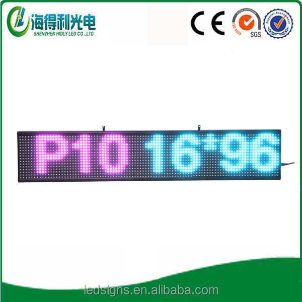 Text message scrolling P10 full color outdoor led scrolling display