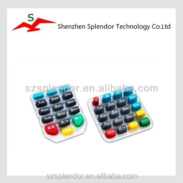 Customized conductive silicone rubber keypad