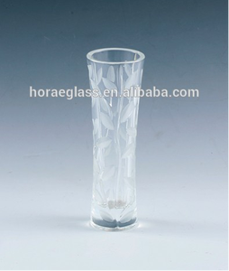 8 inches leaf glass vase