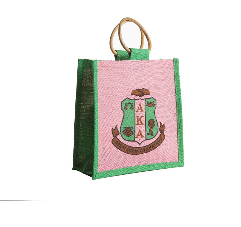 Buy Alpha Kappa Alpha Sorority Shield Logo Jute Mini Bag