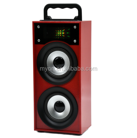 2018 cheap price LED Display Screen Portable Wooden Bluetooth pa system factory speaker