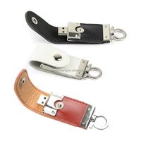 keyring leather USB memory flash pen drive/leather stock usb