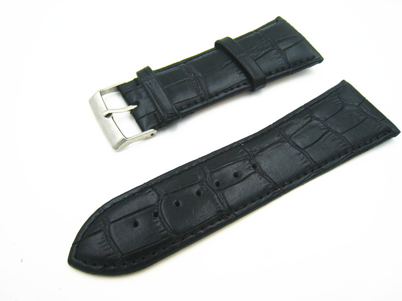 30mm High Quality Black Genuine Leather Watch Band High Quality Fshion Men Women Watch Strap Free Shipping