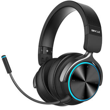 Bingle Q3 Top Quality Best Sound Metal Noise Cancelling Over Ear Stereo Wireless Bluetooth Headphones With Microphone For Gaming View Bluetooth Headphones Bingle Product Details From Huizhou Ovann Industrial Co Ltd On