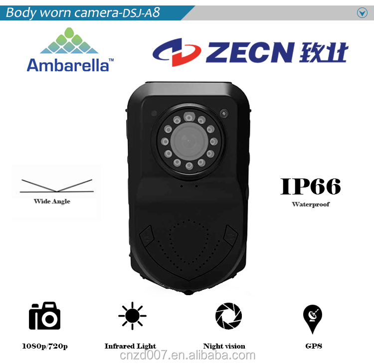 IR night vision body worn camera system with USD and HDMI module
