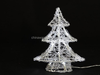acrylic wire christmas tree lights battery lights