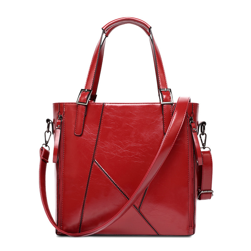 Women Handbag Ladies Soft Pu Leather Bag Pin Type Women Bag Solid Fashion Shoulder Sac Metal Handle Casual Tote Complete Range Of Articles Luggage & Bags