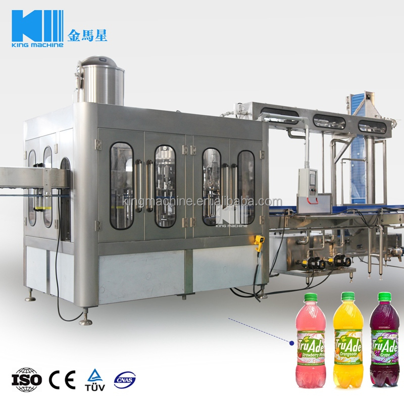 3 in 1 apple juice filling / bottling / packing plant