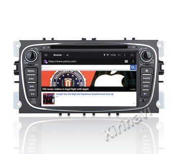 Kirinavi Wc-fu7608 Android 7 1 Car Radio Gps For Ford Mondeo 2007-2011  Navigation With Sd Card Multimedia Dvd Player 1024x600 Hd - Buy For Ford  Mondeo