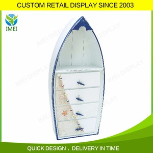 Model wood boat shape beer wooden stand displays counter