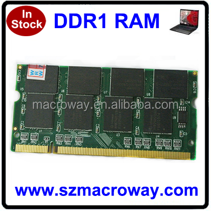 ETT original chips non ecc 64mb*8 1gb Ram DDR1 for laptop sodimm