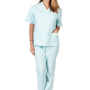 USA Scrubs Unisex One Pocket Scrub Top,Male Nurse Uniforms custom Scrub Sets Navy V Neck Shirt and Pants for Hospital