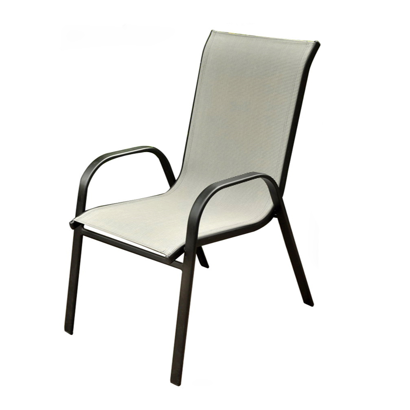 Garden Stacking Steel Frame Dining Chair