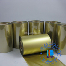 Near-edge compatible gold wash/resin printer ribbon