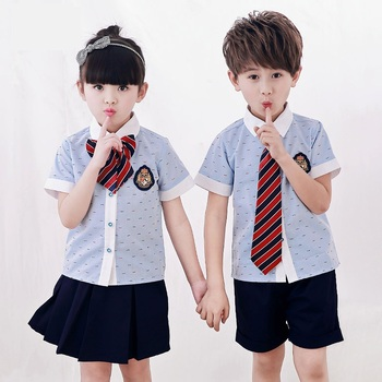 2753db925ed New Korean school girls uniform pictures blue summer fashion japanese school  girl uniform t-shirt