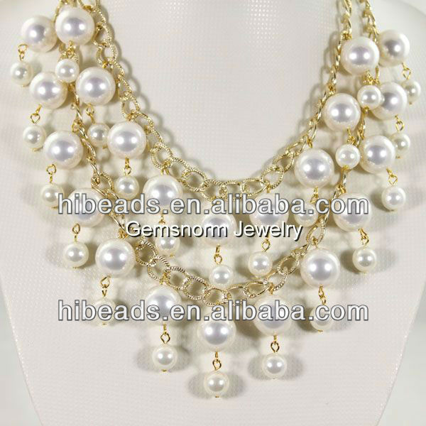 Hot selling inspired 2 broke girls pearl necklace IPB0002