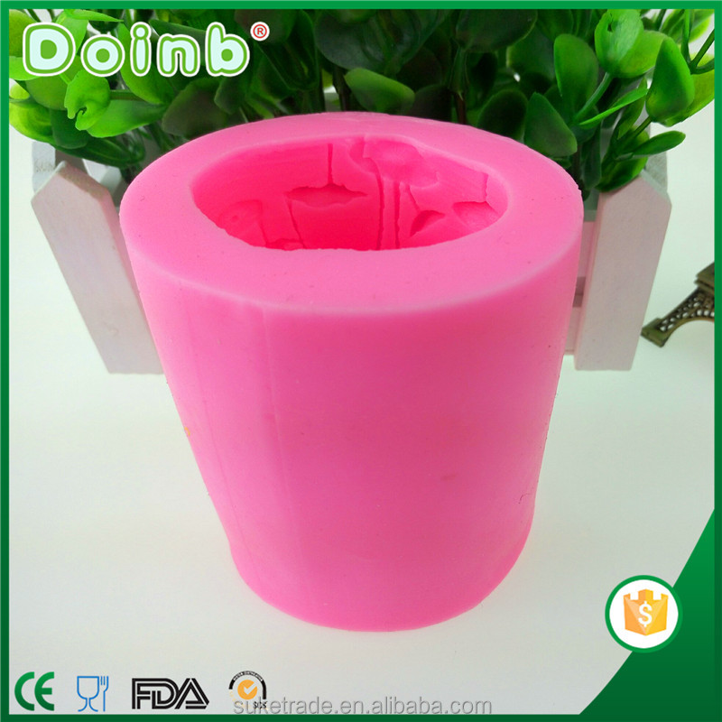 Doinb custom 3D flower shaped silicone handmade candle molds mold for DIY ST3211