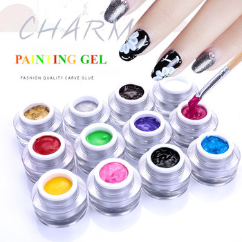 High Quality private label Soak Off 12 Colors 5ml uv painting nail gel paint nail polish