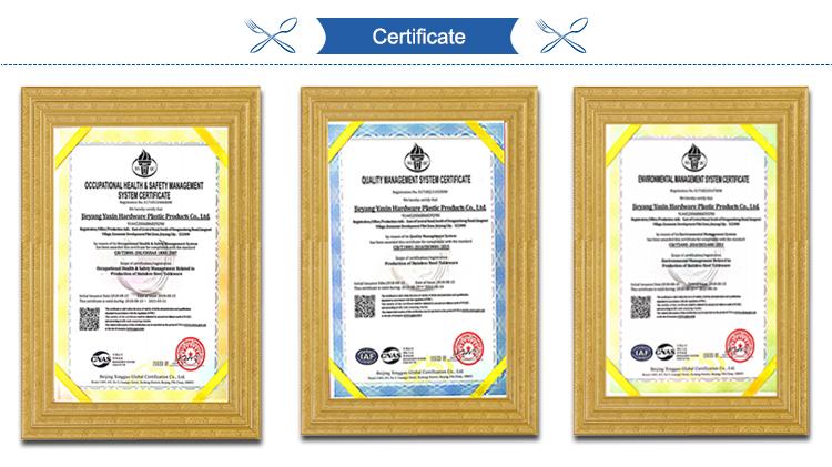 Precio promocional Certificado de alimentos inicio productos cubiertos