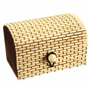 Natural bamboo casio watch packaging box