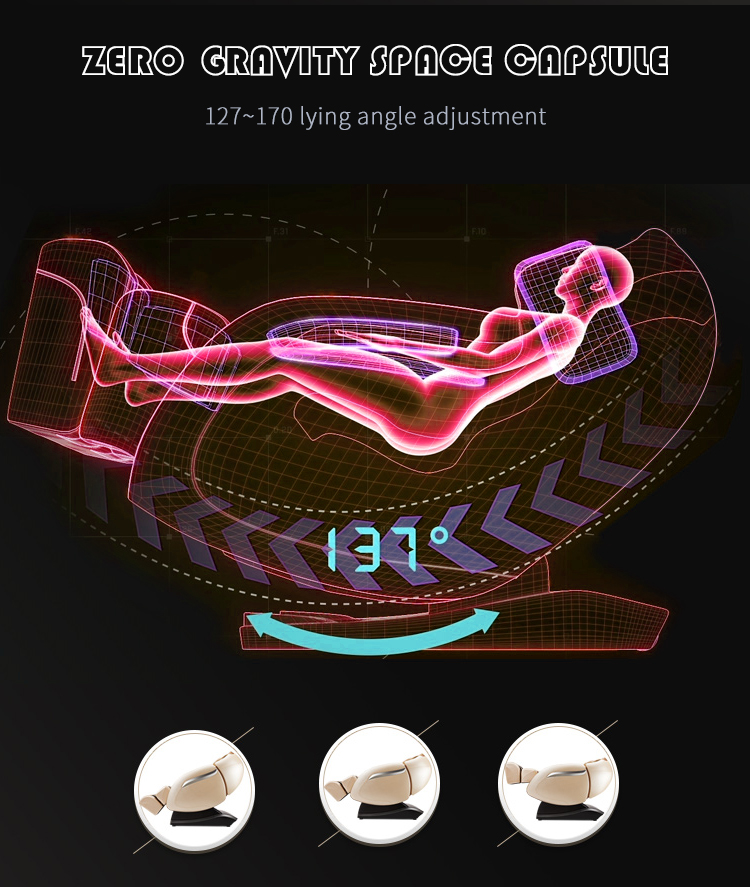 Whole body massage chair with foot massager