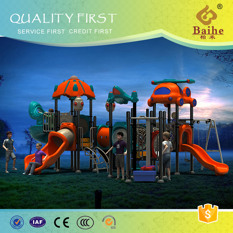 Low price security the daycare long plastic slide