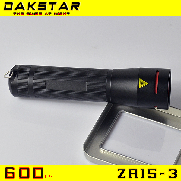 DAKSTAR NEW ZR15-3 XP-G R5 18650&26650 600LM Zoom flashlight