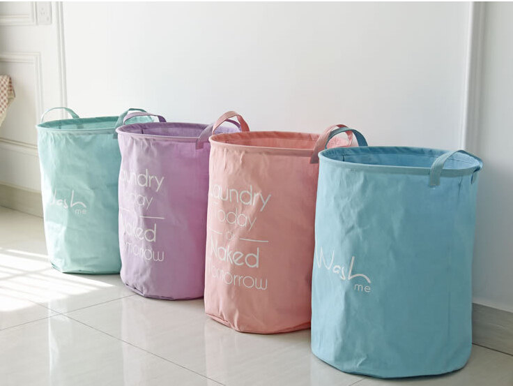 Cotton environmental friendly dirty clothes laundry basket