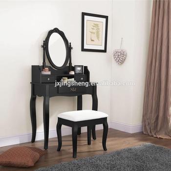 Girls Bedroom Furniture Set Black Dressing Table Set 3 Drawers Makeup Desk  - Buy Makeup Desk Product on Alibaba.com