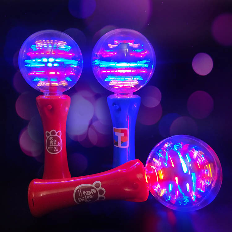 """8/"""" Extra Bright and Sturdy US Flag Magic Ball wand with Spinning Flashing lights"""