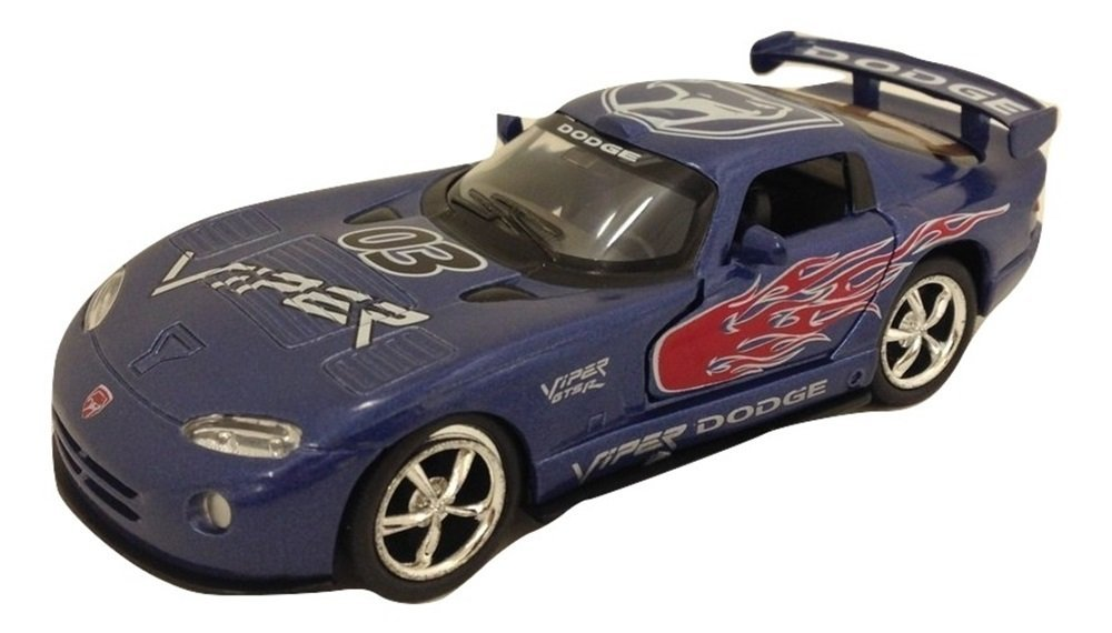 Get Quotations · Fun Stuff Blue Dodge Viper GTS-R Pullback Toy Vehicle - 5