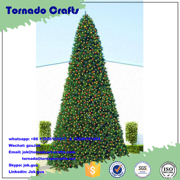40 Foot Giant Commercial Artificial Christmas Tree With Warm White