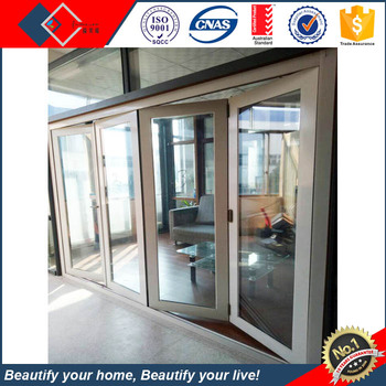Soundproof Bi Fold Screen Door Comply With AS2047, Perfect Hinge Rollers  Hardware Outdoor Exterior Glass
