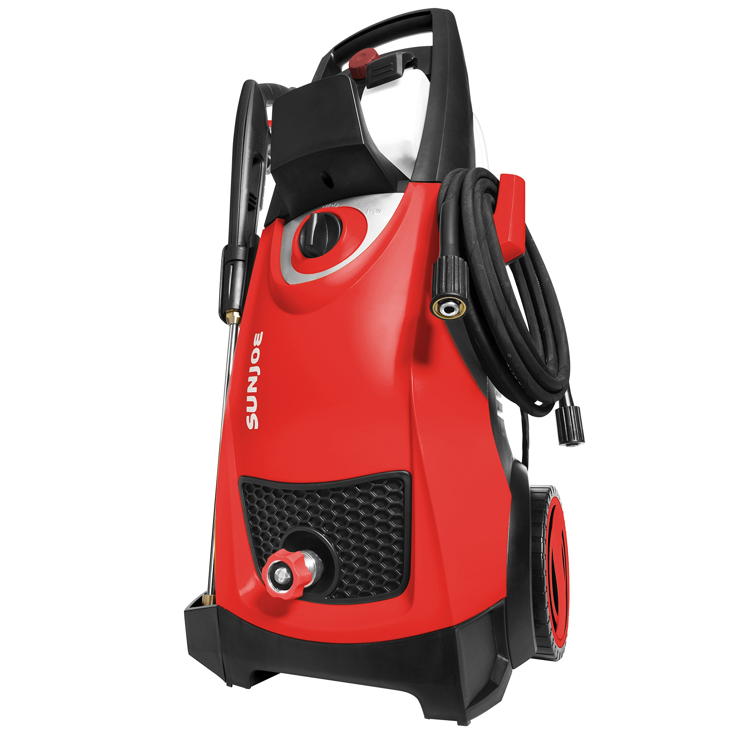 Sun Joe SPX3000-RED Pressure Joe 2030 PSI 1.76 GPM 14.5-Amp Electric Pressure Washer, Red