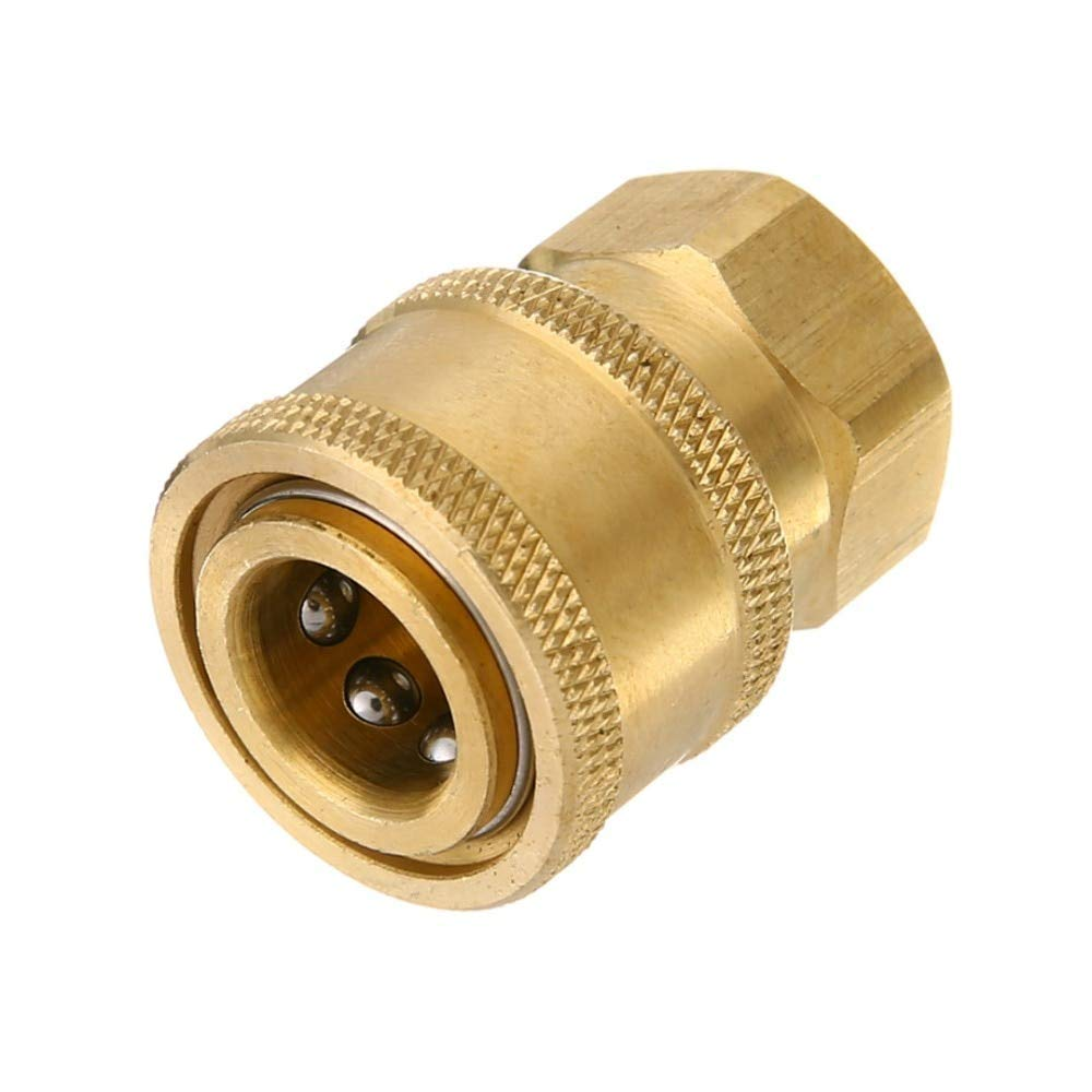 TOLOVI 1/439;39; Pressure Washer Hose Connector Adaptor to 1/4 Female Garden Watering Sprayer Tools Faucets Connect Fitting Pipe